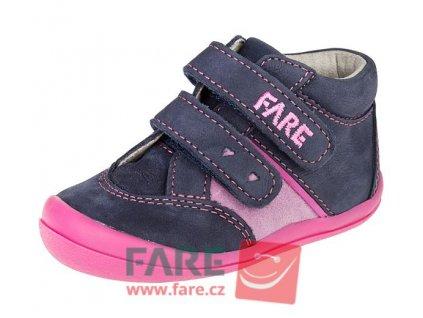 Dětské celoroční kotníkové boty Fare 2121203 modro-růžové