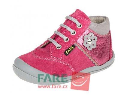 Dětské celoroční kotníkové boty Fare 2121241 růžové