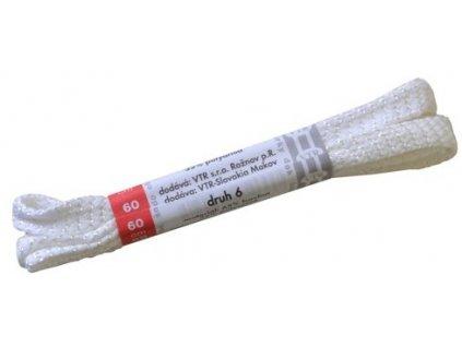 Ploché bavlněné tkaničky do bot 6 bílá