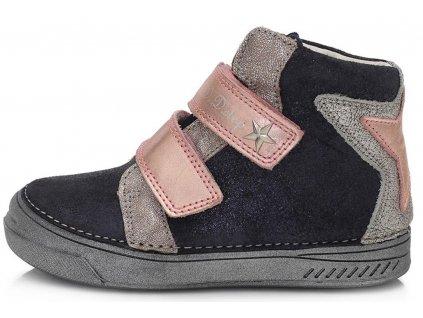Dětské kotníkové celoroční boty D.D.step 040-73 modré