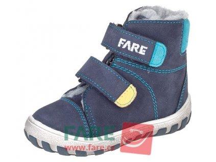 Dětské zimní kotníkové boty Fare 2149201 modré