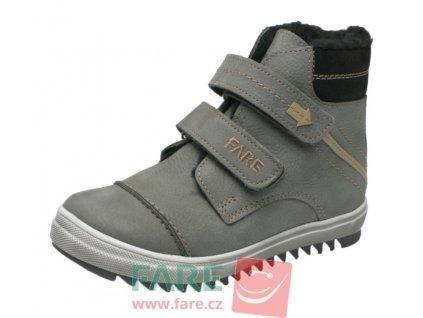 Dětské zimní kotníkové boty Fare 2645261 šedé