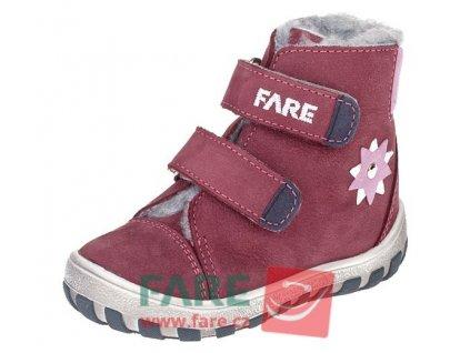 Dětské zimní kotníkové boty Fare 2149291 vínové
