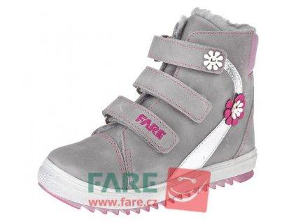 Dětské zimní kotníkové boty Fare 841152 šedé