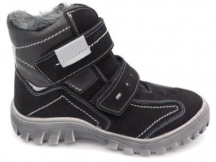 Dětské zimní kotníkové boty Essi S 2062 černé