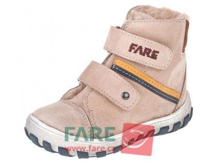 Dětské zimní kotníkové boty Fare 2149281 béžové