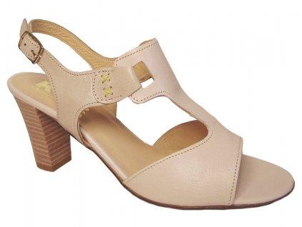Dámské letní boty na podpatku KTR 2561 béžové