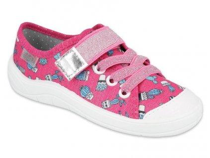 Dětské textilní tenisky Befado 251x167 růžové