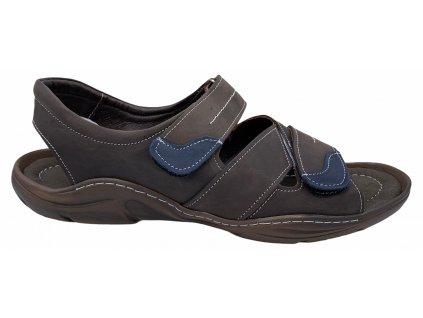 Pánské kožené sandály Hilby S08 hnědé