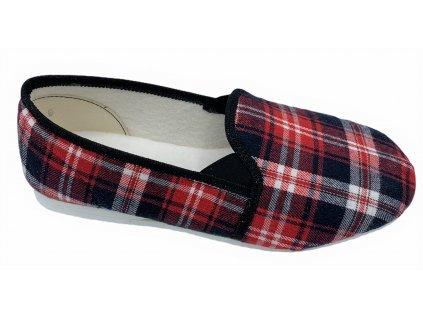 Dámské domácí papuče Bokap 082 červená kostka