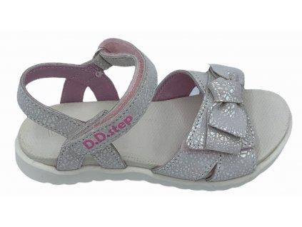 Dětské letní sandálky D.D.step AC055-84 bílé