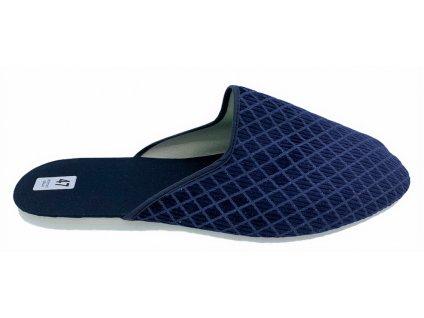 Pánské domácí pantofle Bokap 045 modrý kosočtverec