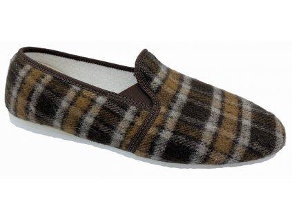 Pánské domácí papuče Bokap 072 hnědá