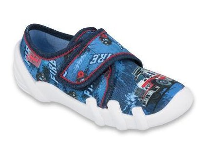 Dětské textilní bačkůrky Befado 273x309 modré