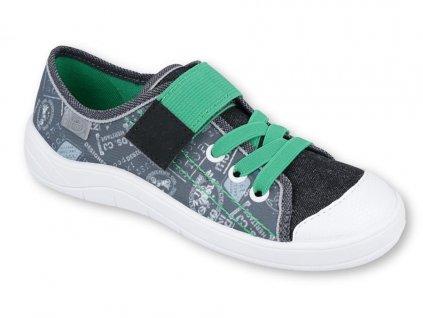 Chlapecké textilní tenisky Befado 251y133 šedé