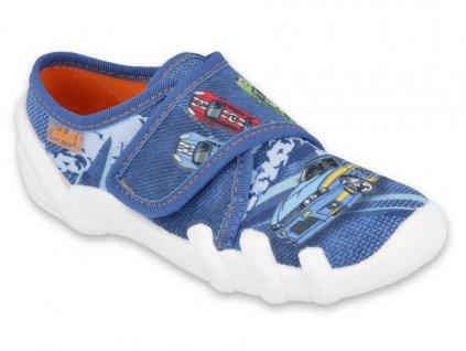 Dětské textilní bačkůrky Befado 273Y316 modré