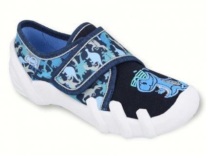 Dětské textilní bačkůrky Befado 273x287 modré