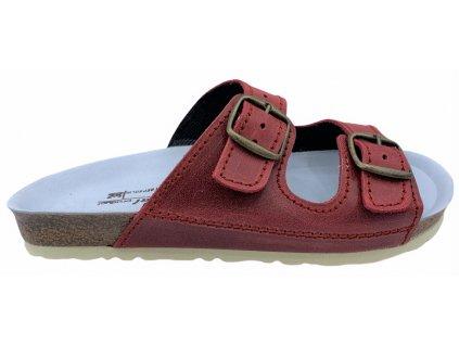 Zdravotní pantofle Natural product ESSI 40282 červené