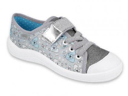 Dívčí textilní tenisky Befado 251y151 šedé