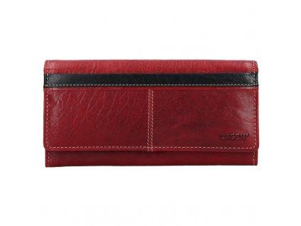 Dámská kožená peněženka Lagen 7546 červená