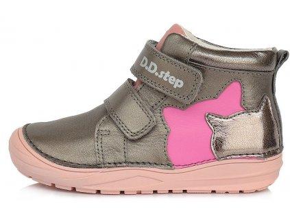 Dětské celoroční boty D.D.step 071-148A silver