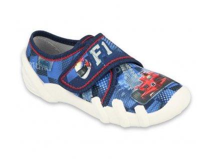 Dětské textilní bačkůrky Befado 273x266 modré