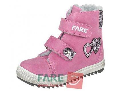 Dětské zimní kotníkové boty Fare 2149154 růžové