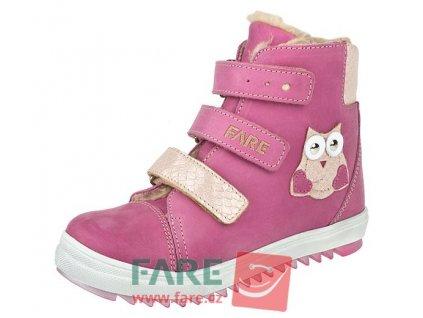 Dětské zimní kotníkové boty Fare 841153 růžové