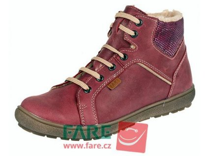 Dívčí zimní kotníkové boty Fare 2649141 vínové
