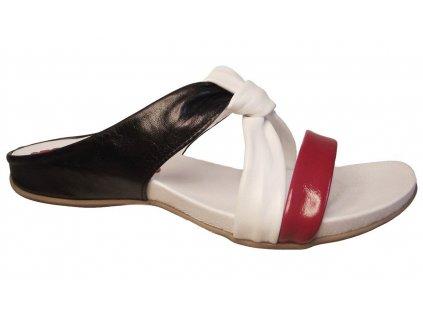 Dámské letní kožené pantofle KTR 2245