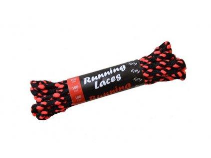 Běžecké tkaničky Running Laces černo-růžová