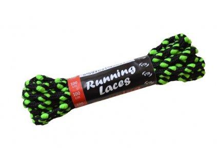 Běžecké tkaničky Running Laces černo-zelená