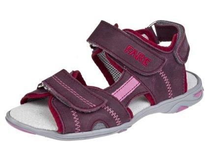 Dívčí letní sandálky Fare 1761191 vínové 89251d7da4