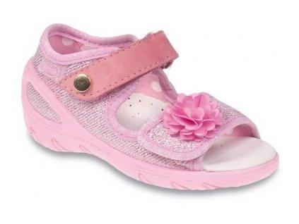 Dětské textilní sandálky Befado 433P020 růžové
