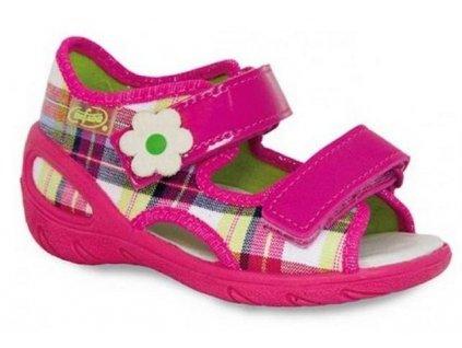 Dětské textilní sandálky Befado 065P088 růžové