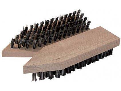 Dřevěný blátový kartáč