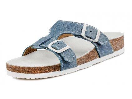 Dětské zdravotní pantofle Barea 003050 modré ffe092eb9f