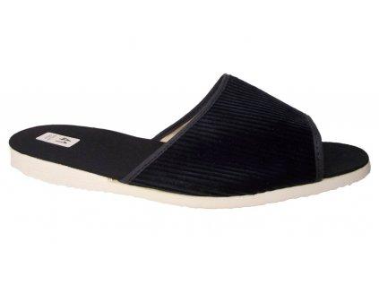 Pánské domácí pantofle Bokap 017 modrá manžestr