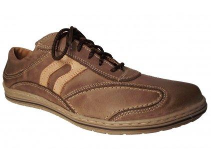 Pánská vycházková obuv NES 4065 hnědá