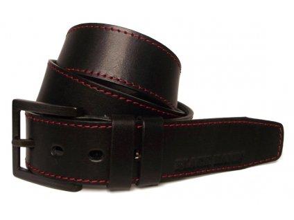 Pánský černý kožený pásek Black Hand 123-98