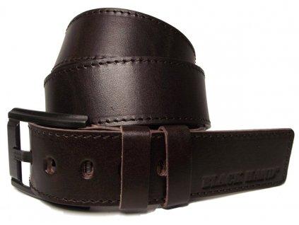 Pánský hnědý kožený pásek Black Hand 120-93