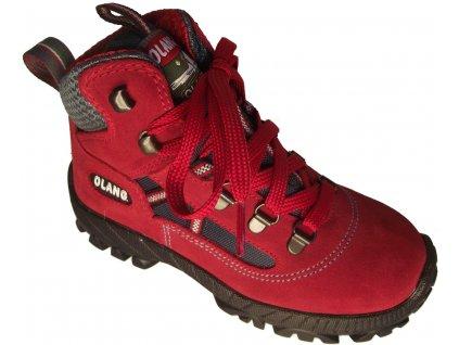 Dětská kotníková treková obuv Olang Cortina kid.Tex červená