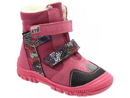 Dětské zimní kotníkové boty KTR 315/1/T růžové