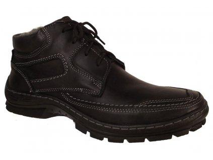 Pánská zimní kožená obuv Madler 404 černá