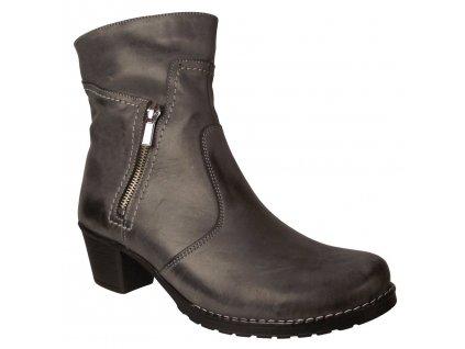 Dámská zimní obuv na podpatku Kira 522 šedá