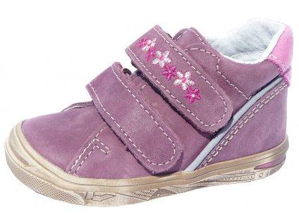 Dětské celoroční boty Jonap 015 M kytka fialová 5fff056993