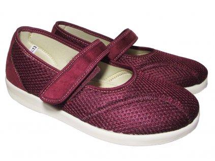 Dámská textilní obuv Rogallo 6089 vínová