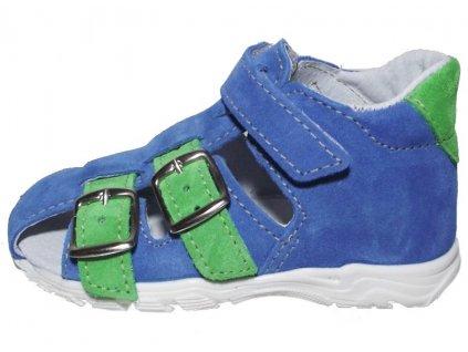Dětské letní sandálky Jonap 013 modrozelené
