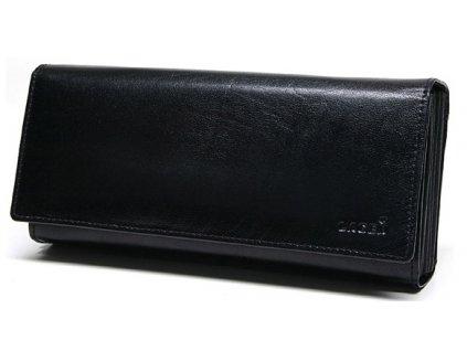 Kožená kasírka Lagen LG-02 černá