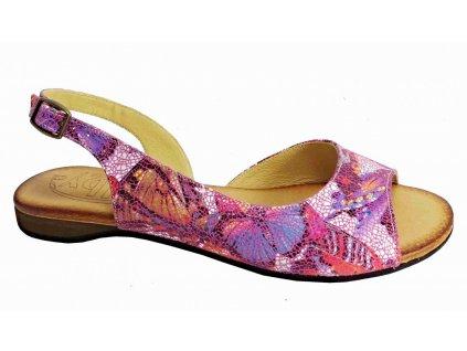 Dámské kožené sandály Hilby D364 barevné
